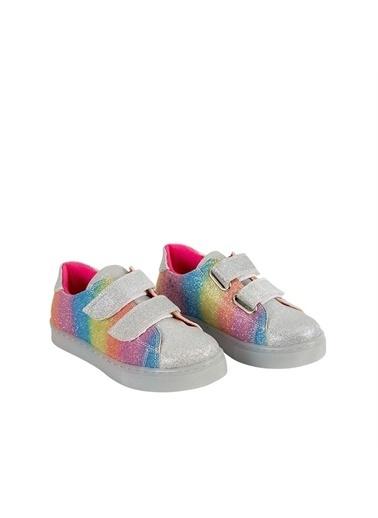 Kids A More Silvery Işıklı nlı Parlak Kız Çocuk Ayakkabısı  Gümüş